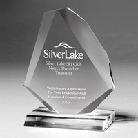 7543CS (Screen Print), 7543CL (Laser), 7543CP (4Color Process) - Beveled Diamond Award